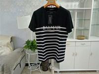 Wholesale man polo t online - Balmain Mens Designer T Shirts Fashion Men Women Designer Shirts Balmain Paris Designer Shirt Polo Size S XXL