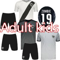 ingrosso t-shirt zombie-Kit uomo 2019 2020 Club de Cuervos home Maglia da calcio 19 20 cuervos bambini kit ZOMBIE TORTU T-shirt da calcio uniforme
