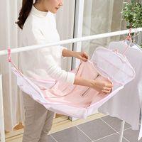 máquinas de bronzeamento venda por atacado-Anti-deformação Ping Tan rede de secagem máquina de lavar roupa saco de rede saco de lavar roupa camisola longa rede de roupa à prova de vento Laundry65333