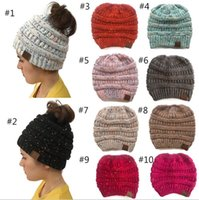 Wholesale wool beanie caps for sale - Group buy Unisex Fashion Knitted Cap Autumn Winter Men Cotton Warm Hat CC Skullies Brand Heavy Hair Ball Twist Beanies Solid Color Hip Hop Wool Hats