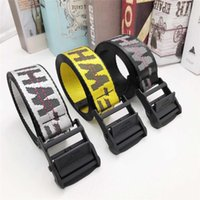 Wholesale buckle belt for sale - Group buy 2020 Top Off Yellow White Belts Embroidery Canvas Letter cm cm Long Femal Belt for Women Luxury Designer Brand Belts Free shiping