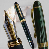 Wholesale fountain pen nibs jinhao resale online - FOUNTAIN PEN JINHAO DARK GREEN AND GOLDEN mm BROAD NIB FULL METAL BLUE RED COLORS AND INK
