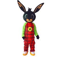 ingrosso spedizione stella dell'oceano-NEW Bing Bunny Mascot costume Fancy Dress Natale per l'evento festa di Halloween