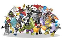 yapı setleri toptan satış-16 adet / grup Marvel yapı taşları Setleri Avengers Infinity Savaş Mini Süper Kahraman Süper Kahraman Thor Hulk Kaptan Amerika Rakamlar Yapı Taşları oyuncaklar