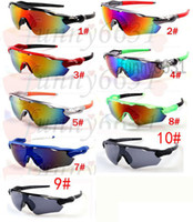 Wholesale titanium sport online - BRAND New Bicycle Glass MEN sunglasses sports to peak cycling sunglasses Sports spectacl fashion dazzle colour mirrors