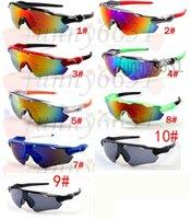 espelhos para bicicletas venda por atacado-MARCA Nova Bicicleta Homens de vidro óculos de sol óculos de esportes de pico óculos de ciclismo esportes spectacl moda deslumbrar espelhos de cor frete grátis