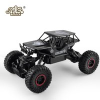 Wholesale bigfoot car for sale - Group buy Rc Car dw ghz Metal Rock Crawlers Rally Climbing Car Double Motors Bigfoot Car Remote Control Model Toys For Boys