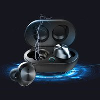 gerçek bluetooth toptan satış-006 TWS-9 Dokunmatik Su Geçirmez Binaural Bluetooth Kulaklık 5.0 iOS Android Telefonlar Için 5.0 Gerçek Kablosuz Mini Koşu Kulaklık