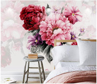 Wholesale bedroom paintings photos resale online - WDBH d wallpaper custom photo mural Stylish modern watercolor hand painted flowers decor living room d wall murals wallpaper for walls d