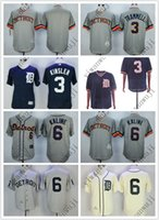 Wholesale white tiger shirt for sale – custom Cheap Tigers jerseys Blank KINSLER KALINE Cream White Grey Dark Blue Baseball Jerseys Shirt Stitched Top Quality