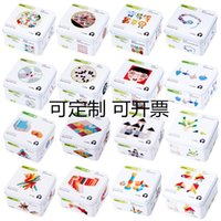 Wholesale wooden dominoes resale online - Kindergarten Children Baby Wooden Puzzle Toys Puzzle Building Gyro Domino Early Cognitive Toys