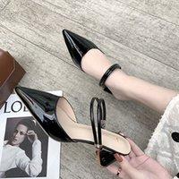 yeni model terlik toptan satış-Kalın topuk sandalet kadın 2019 yaz yeni net kırmızı Harajuku tarzı Baotou yarım bayan modelleri ile Muller ayakkabı giymek terlik