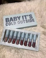 Wholesale luminous lipstick for sale - Group buy Newest Hot Makeup Christmas edition set Lipsticks set colors Lip Gloss Liquid lipstick Baby It s Cold Outside DHL shipping