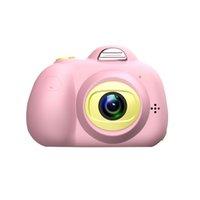 niedliche digitalkameras großhandel-Nette Kinder Digitalkamera Full HD 1080 P 2 Zoll 8MP Mini Dual Lens Kinder Kamera SLR Videokamera beste Geschenke für Kinder Kinder