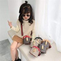 Wholesale classic children toys for sale - Group buy Winter new children baby messenger bag shoulder bag PU children bag classic pattern child designer handbag