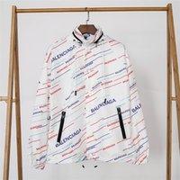 erkek için siyah uzun ceket toptan satış-Tasarımcı Ceketler Erkek Moda Stil Rüzgarlıklar Sonbahar Ceket Uzun Kollu Casual Erkek Ceketler Renk Beyaz Siyah Boyutu M-2XL
