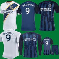 yeni beyaz gömlekler toptan satış-Yeni 2020 La galaxy zlatan IBRAHIMOVIC Ev Beyaz 2019 Futbol Formaları 19 20 LA galaxy çocuklar Uzun Mavi GIOVANI J. DOS SANTOS Futbol Gömlek