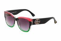 diamante ovalado de la vendimia al por mayor-0218 Lujo gafas de sol cuadradas mujeres Italia diseñador de la marca Diamond Gafas de sol Damas Vintage de gran tamaño Mujer Gafas gafas