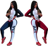 sıcak satmak tozlukları toptan satış-Kadın Tasarımcı Güz Kıyafetler Ceket + Tozluk 2 Parça Set Eşofman Bodycon Uzun Kollu Gömlek + Pantolon Rahat Giysiler spor SıCAK Satmak 1116
