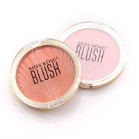 palette blush pcs großhandel-1 Stück Monochrome Blusher Palette Langlebige Face Check Pink Orange Blush 88