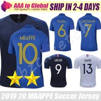 8a6ea2925 Wholesale french jerseys online - Top FRENCH jersey Thai quality th  Anniversary MBAPPE GRIEZMANN POGBA Soccer