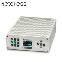 yayın vericisi toptan satış-Retekess TR505 25W PLL FM Verici Anten USB Mini Radyo Stereo İstasyonu Kablosuz Kayıpsız Müzik Yayını + Güç + Anten
