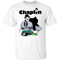 ingrosso pantaloni rossi camicie gialle-Charlie Chaplin V3, poster, T Shirt (WHITE, YELLOW, KHAKI) tutte le taglie S-5XL Style Round Style Tshirt Bianco Nero Grigio Rosso Tshirt