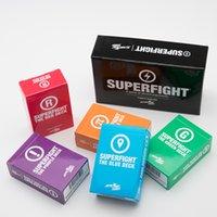 cartas de súper pelea al por mayor-Superfight Board Game Residual Card Juego de fiesta de papel básico y extendido para adultos juguetes educativos para niños