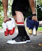 ingrosso allenatori di pallacanestro basso-scarpe da uomo di lusso del progettista delle donne di basket 2019 di moda per la piattaforma mens formatori aria Sneakers SB Dunk Low piatto fondo rosso Pattino corrente