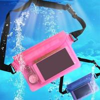 Wholesale pink backpacks chinese resale online - New Waterproof Swimming Drifting Diving Waist Bag Waist Belt Underwater Dry Shoulder Backpack Waist Belt Bag Pocket Pouch for iphone xiaomi