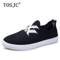 лодка парусина случайные мужчины обувь оптовых-TOSJC  New Arrive Canvas Boat Shoes Men Casual Footwear Slip on Flat Loafer Breathable Male Skateboarding Shoes for Male