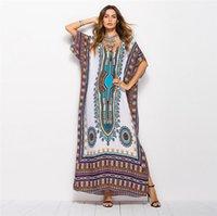 amerikanische kleider großhandel-Designer-Frauen kleiden südamerikanische Luxusart gedruckte beiläufige Art- und Weisekleid-Übergrößenkleid-freie Größen-unterschiedliche vorhandene Farbe an