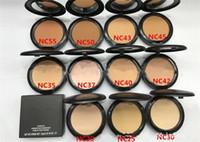 estúdios solares venda por atacado-NC Fundação Marca Make-up Estúdio Fix Bolo Em Pó Fácil de Usar o Rosto Em Pó Blot Pressionado Em Pó Sun Bloco Fundação X139