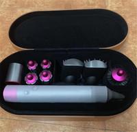 eisen aluminium großhandel-DYS hair Complete Styler Glätteisen Lockenwickler Low Heat Air Wrap 8 Köpfe Trockner 4 Lockenstäbe 2 Glättende Volumenbürsten Lockenstäbe