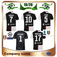 camisas novas do clube venda por atacado-19/20 Temporada Clube # 7 RONALDO Camisa de Futebol 2019 Casa DYBALA PJANIC MANDZUKIC Camisas De Futebol BONUCCI D.COSTA Novo Patch uniforme de Futebol