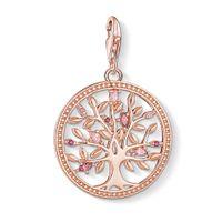 chance d'arbre achat en gros de-Rose Gold Tree of Love Charms pour Bracelet Femmes Rose CZ Thomas Style Argent Mode Bonne Chance Bijoux DIY Accessoires 2019 Nouveau