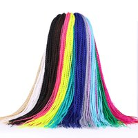 Wholesale afro synthetic curly hair weave for sale - Women Afro Curly Bulks Colors Black African Hand Knotted Dreadlocks Top Synthetic Weave Bundles Hair Extension Ladies Fashion Beauty