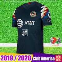uniformes de football américain achat en gros de-Nouveaux arrivants 2019 2020 Club America Soccer Jerseys Accueil 18 19 20 Uniformes de chemises de football Apertura A18 CAMPEON Troisième LIGA MX