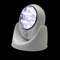 ingrosso lampada calda a infrarossi-Hot 7 LED Wireless PIR Sensore di movimento automatico Luce LED Motion Light Lampada a induzione portatile intelligente a infrarossi Sensore a LED Night Lights