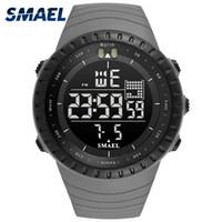 Wholesale electronics meters resale online - 2020 SMAEL Brand New Electronics Watch Analog Quartz Wristwatch Horloge Meters Waterproof Alarm Mens Watches kol saati