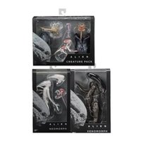 siyah sözleşme toptan satış-Alien Action Figure Düzensiz Sözleşme Figma Anime Neomorph Modeli Siyah Beyaz Yüksek Kalite Ünlü Koleksiyonu Sıcak Satış 95bt D1