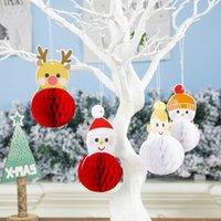 Wholesale santa claus paintings for sale - Group buy 5Bags Santa Claus Painted Cartoon Pull Flower Christmas Ball Pendants Creative Home Christmas Tree Pendants Hanging Ornaments