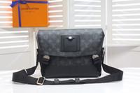 en iyi mesajlar toptan satış-2019 en iyi kahverengi mektup hakiki deri kadın mesaj çanta çanta poşet Metis omuz çantaları crossbody Retro çanta ücretsiz kargo M40511