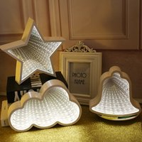 Wholesale 3d mirrors decor resale online - Novelty Night Light D Star Could Heart Light Infinity Mirror Tunnel Lamp Mirror Tunnel Light Home Decor For Kids Baby Toy Gift