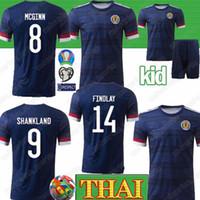 cami xs al por mayor-Tailandesa 2020 camiseta de fútbol de Escocia ROBERTSON camiseta de fútbol Eurocopa FRASER Naismith MCGREGOR CHRISTIE FORREST hombres chico Camis