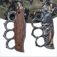 протектор пальца оптовых-Многофункциональный карманный нож Finger Protector Тактический нож Cool Knuckle Duster Карманный нож для выживания Охота Рыбалка Кемпинг