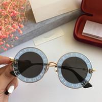 óculos de sol de moda branca venda por atacado-Luxo 0113S Óculos De Sol Para As Mulheres Designer de Moda 0113 Rodada Estilo Verão Branco Rosa Quadro de Alta Qualidade Lente de Proteção UV Vem Com o Caso