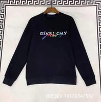 mulheres estrela sweater venda por atacado-Givency Moda Paris Assinatura Carta camisola Imprimir Assinatura Hoodie Homens Mulheres Hoodies Europa Estrelas Mens Sweater Homens Roupa DD3175