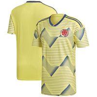 ingrosso giallo jersey di calcio giallo-Uomini Colombia New National Team Soccer 2019 Home Replica maglia calcio giallo magliette gialle taglia S-XL