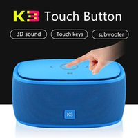 Wholesale battery ma for sale - Group buy K3 Bluetooth Speaker D Surround subwoofer Speaker TF card AUX mA built in lithium battery touch sensing Speaker
